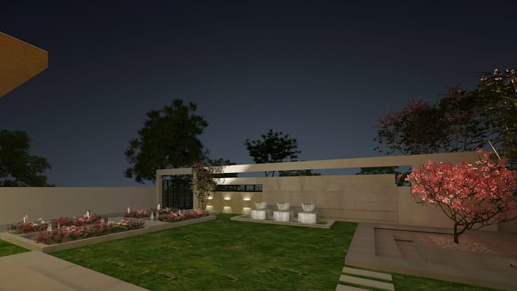 LANDSCAPE VIEW:  Garden by De Panache  - Interior Architects