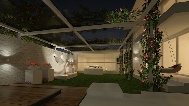 LANDSCAPE AREA VIEW:  Garden by De Panache  - Interior Architects