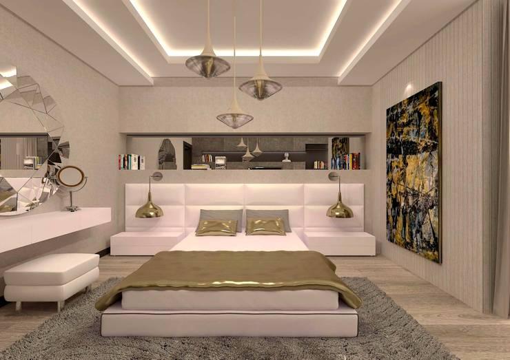 ESA PARK İÇ MİMARLIK – İLKO SİTESİ- ÖRNEK VİLLA  :  tarz Yatak Odası