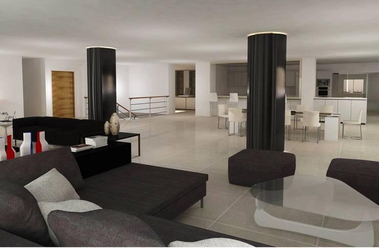 Santorini : Salas de estilo  por COLECTIVO CREATIVO