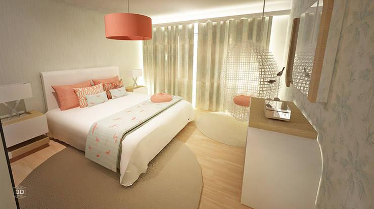 Chambre de style  par GRAÇA Decoração de Interiores