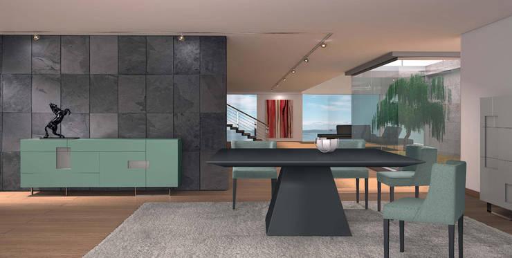 Mobiliário de Salas de jantar Furniture of Dining rooms www.intense-mobiliario.com  JAQ http://intense-mobiliario.com/pt/salas-de-jantar/3498-sala-de-jantar-jaq-.html: Sala de jantar  por Intense mobiliário e interiores;