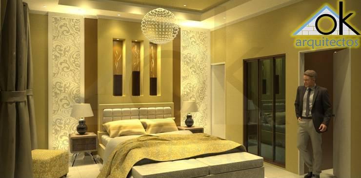 Proyecto de vivienda alquiler: Dormitorios de estilo  por Okarq