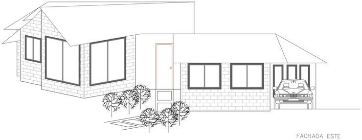 Fachada Principal: Casas de estilo  por Loft estudio C.A.