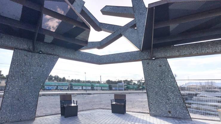 Vườn phong cách công nghiệp bởi arqubo arquitectos Công nghiệp Sắt / thép