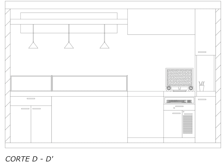 Vista interna atención al cliente: Espacios comerciales de estilo  por Loft estudio C.A.