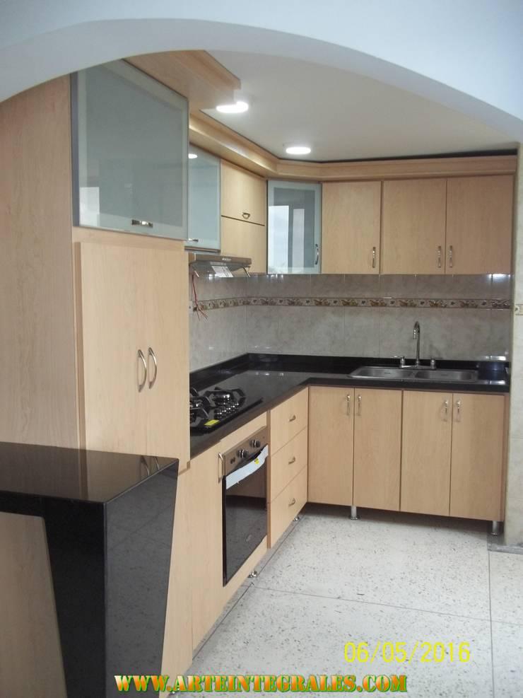 cocina modernas en barranquilla: Cocina de estilo  por arteintegrales