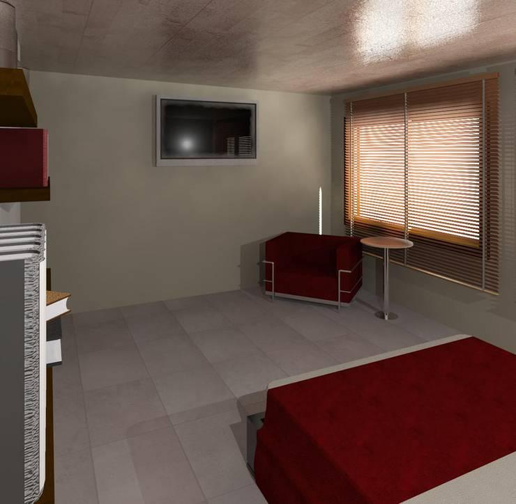 Dormitorio 01: Cuartos de estilo  por Diseño Store