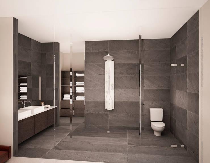 BAÑO:  de estilo  por PORTO Arquitectura + Diseño de Interiores