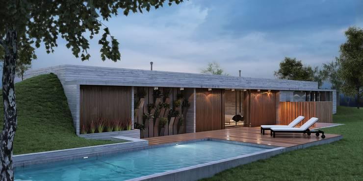 Casas de estilo  de Arquitecta Fernanda Isola