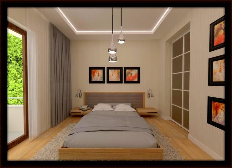 غرفة نوم تنفيذ ESA PARK İÇ MİMARLIK