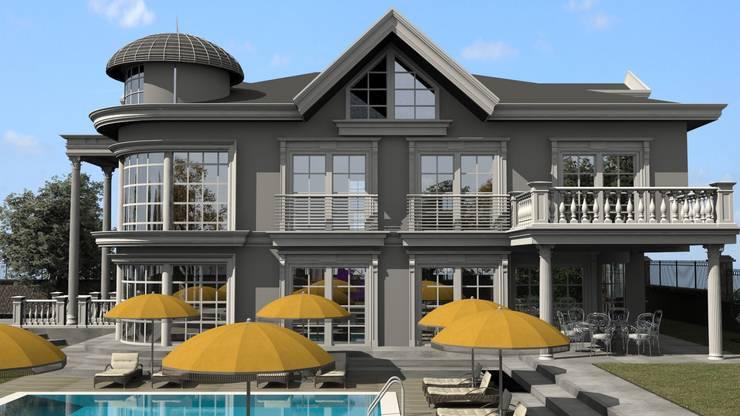 ESA PARK İÇ MİMARLIK – VİLLA CEPHE ÇALIŞMASI : klasik tarz tarz Evler