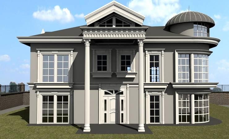 ESA PARK İÇ MİMARLIK – VİLLA CEPHE ÇALIŞMASI :  tarz Evler, Klasik