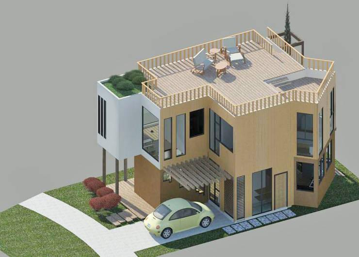 Vista aérea: Casas de estilo  por Loft estudio C.A.