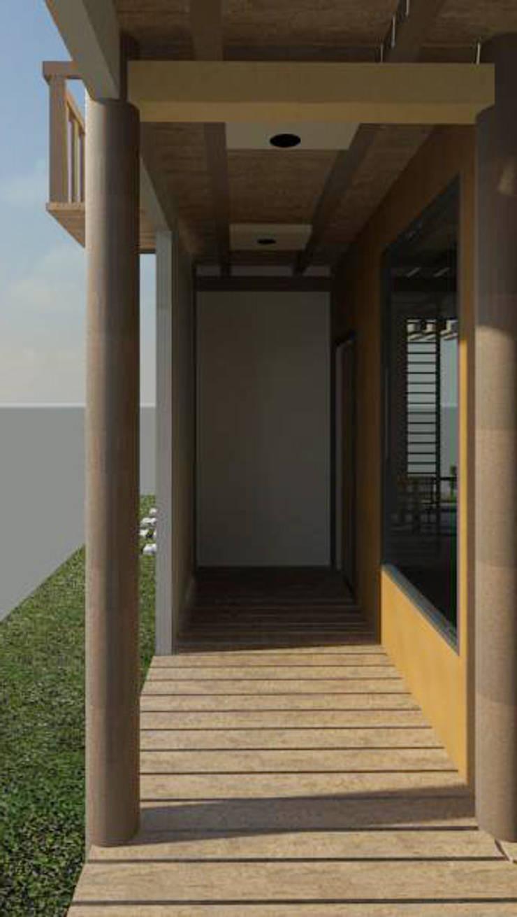 Vista acceso a la vivienda: Casas de estilo minimalista por Loft estudio C.A.