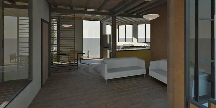 Vista interiores: Salas / recibidores de estilo  por Loft estudio C.A.