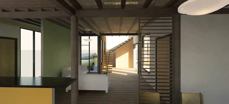 Vista interior de la vivienda: Salas / recibidores de estilo minimalista por Loft estudio C.A.