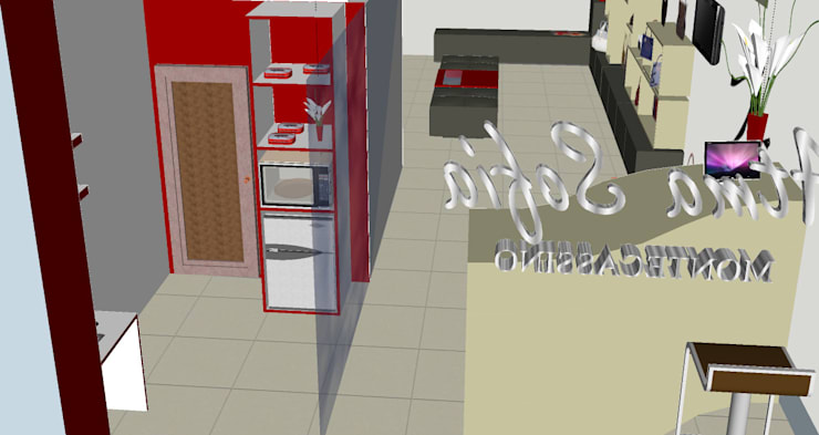 Render del proyecto: Tiendas y espacios comerciales de estilo  por Loft estudio C.A.