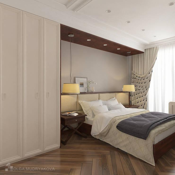 Спальня в трехкомнатной в СПб: Спальни в . Автор – Design interior OLGA MUDRYAKOVA