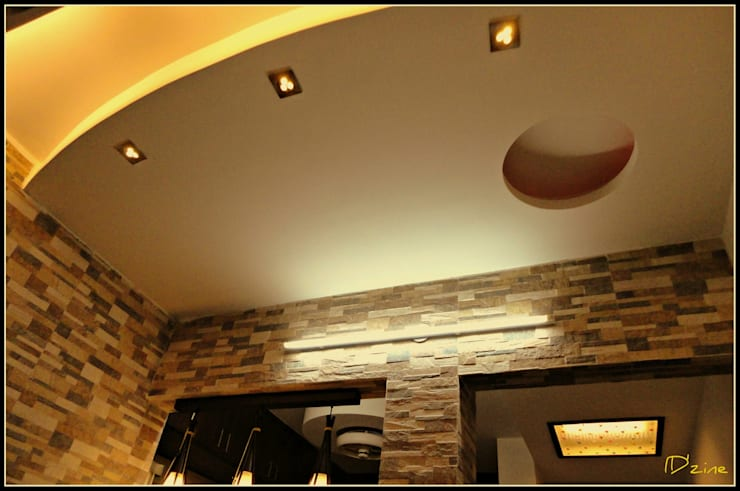 False Ceiling: asian Kitchen by Mehak Lochan Design
