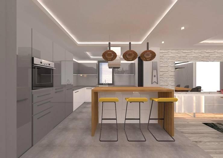 VANETTA KÜCHEN  – YURTKENT  VİLLALARI-  ÖRNEK DAİRE :  tarz Mutfak, Modern
