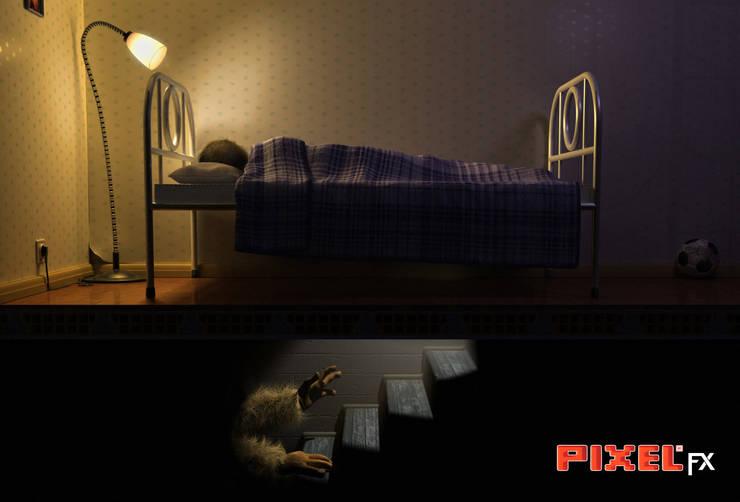 Under my bed - Ilustração:   por PIXELfx
