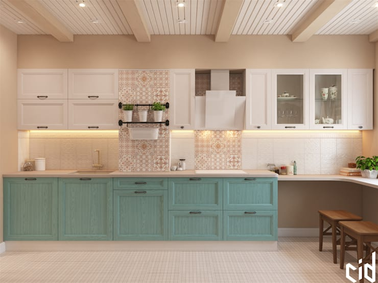 Cocinas de estilo  por Center of interior design