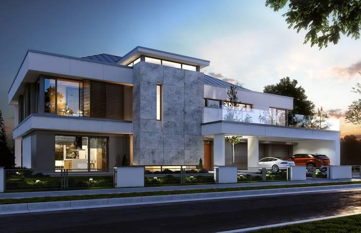 modern Houses by MG Projekt Projekty Domów