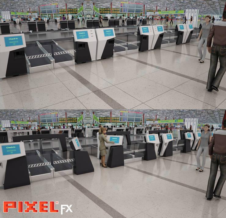 Check-in counter - Design de produto:   por PIXELfx