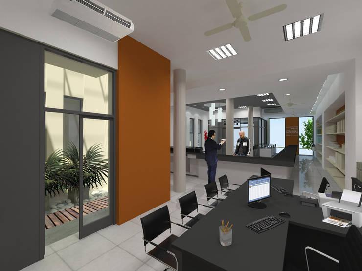 PAPELERA GUEMES S.R.L.: Oficinas y locales comerciales de estilo  por D'ODORICO OFICINA DE ARQUITECTURA