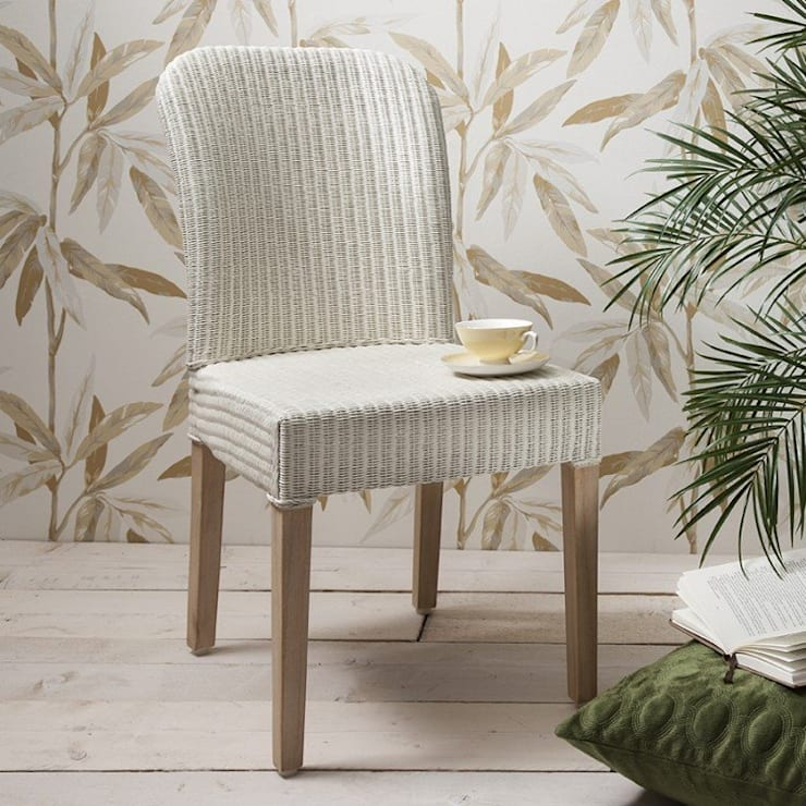 2a85961e73fd2 White Becket Lloyd Loom Dining Chair  Dining room by Modish Living