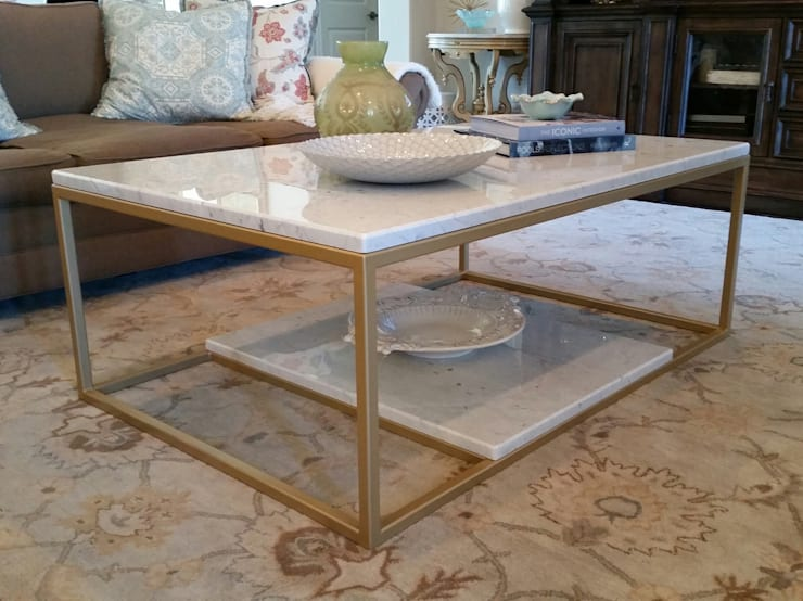 Custom Coffee Table :  Living room by Urban Ironcraft
