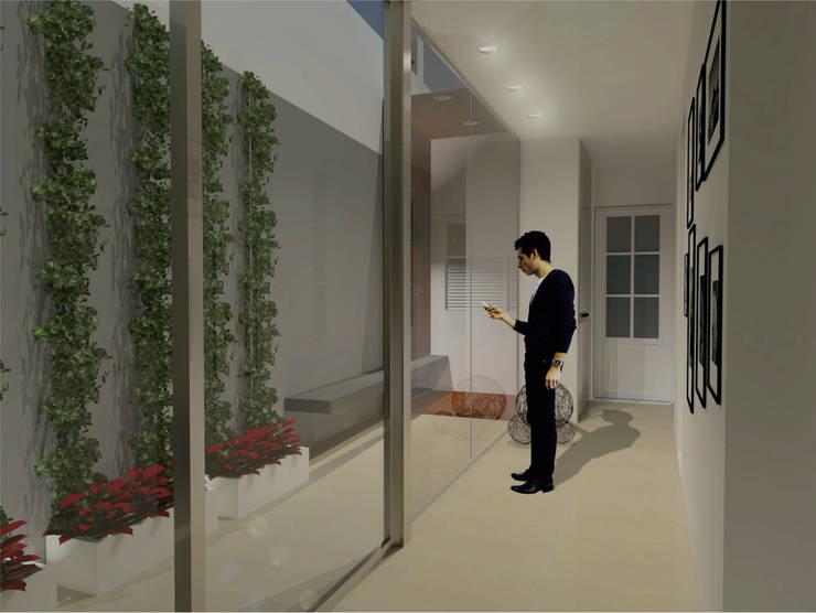 Casa EP – REFORMA VIVIENDA : Pasillos y recibidores de estilo  por D'ODORICO OFICINA DE ARQUITECTURA