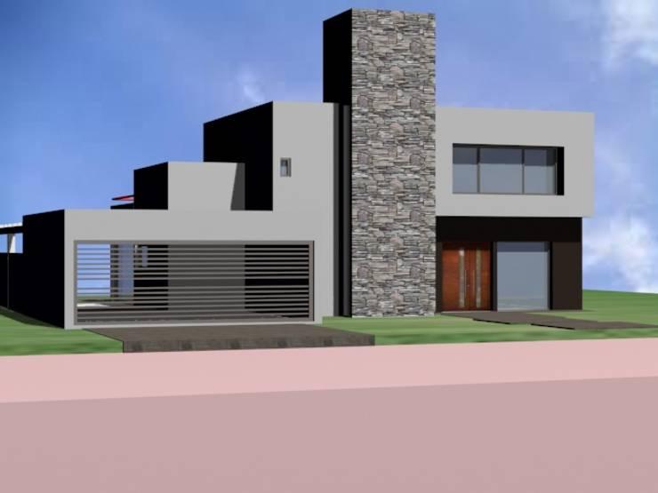 SANTINA: Casas de estilo  por ARQUITECTA CARINA BASSINO,Moderno