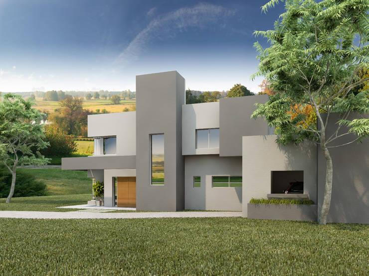EL BOSQUE: Casas de estilo  por ARQUITECTA CARINA BASSINO