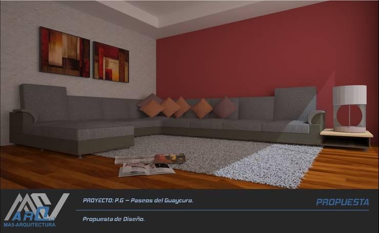 P. G. – Paseos del Guaycura: Salas de estilo  por MA5-Arquitectura