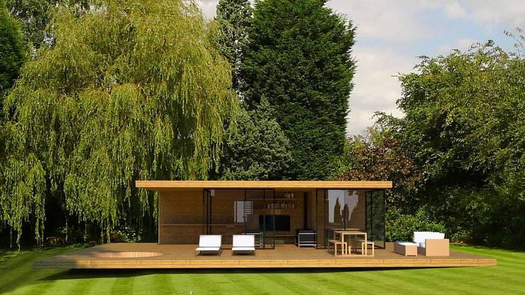 Garage/schuur door Andrew Wallace Architects