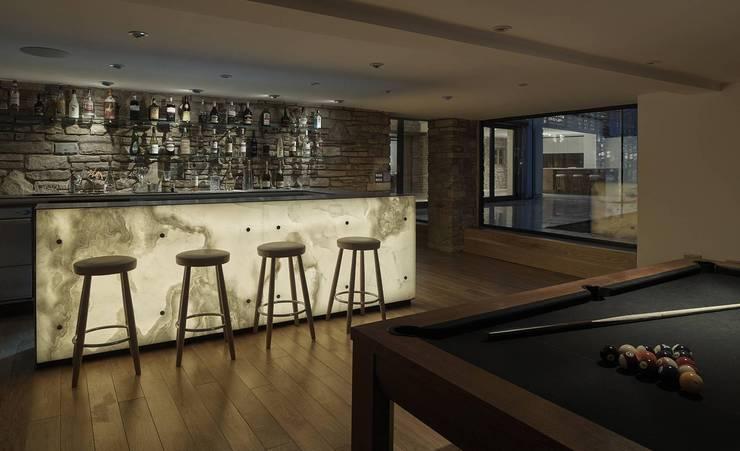 minimalistische Woonkamer door Andrew Wallace Architects