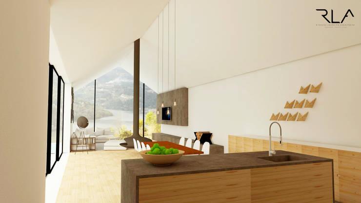 Guest Room:   por RLA | RICHARD LOUREIRO ARCHITECTS