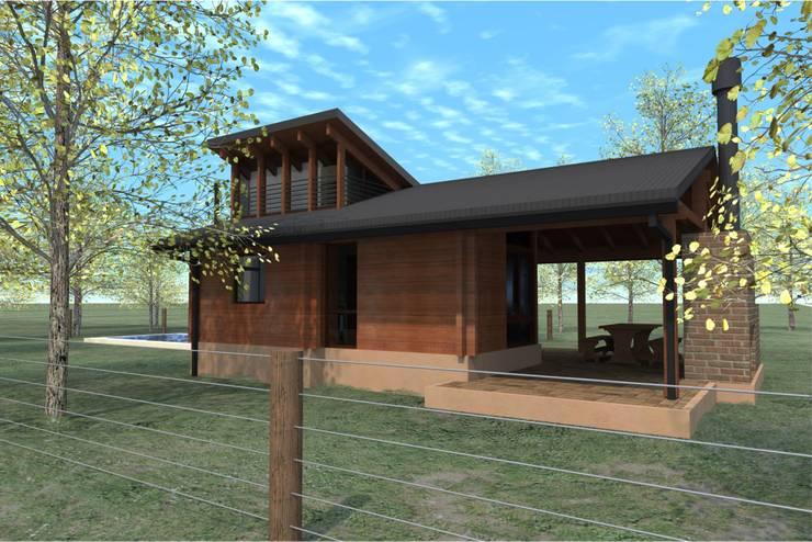 CABAÑAS DE MADERA – SANTA ROSA DE CALCHINES: Casas de estilo  por D'ODORICO OFICINA DE ARQUITECTURA