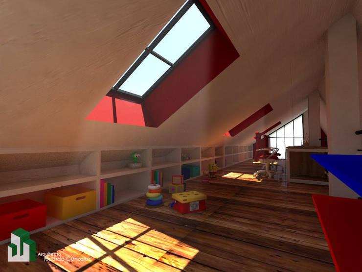 Espacio Intimo de disfrute familiar:  de estilo  por Arquitecto Ricardo Gonzalez