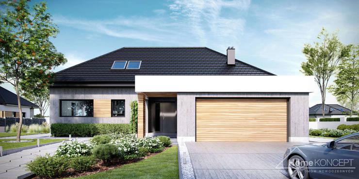Projekt domu HoemKONCEPT 29: styl , w kategorii  zaprojektowany przez HomeKONCEPT | Projekty Domów Nowoczesnych
