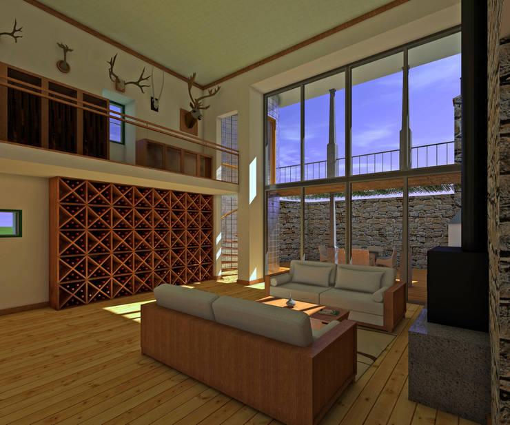 Salas / recibidores de estilo  por JOÃO SANTIAGO - SERVIÇOS DE ARQUITECTURA