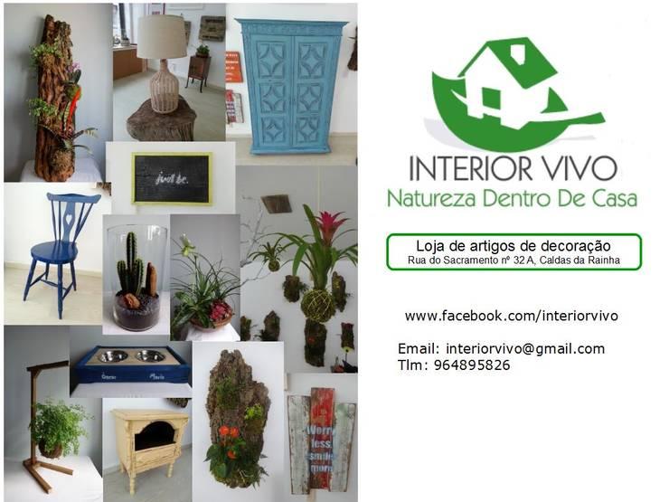 Loja de artigos de decoração: Escritório e loja  por Interior Vivo