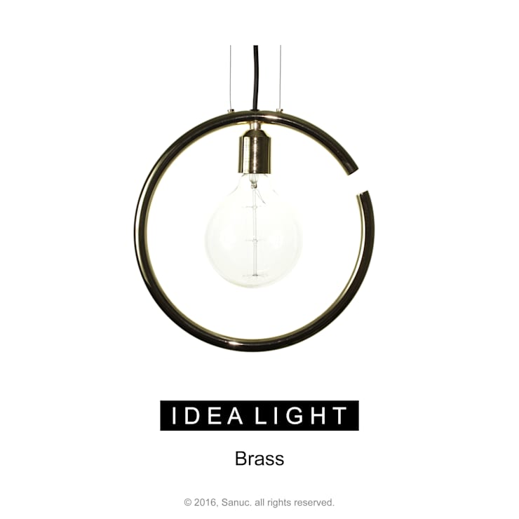 IDEA LIGHT Pendant_Brass: SANUC의  복도, 현관 & 계단