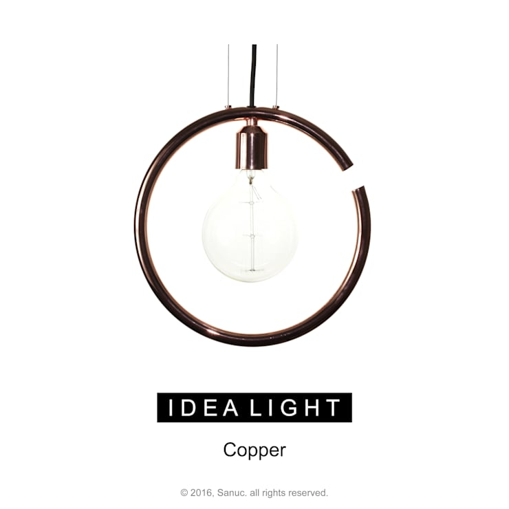 IDEA LIGHT Pendant_Copper: SANUC의  복도, 현관 & 계단