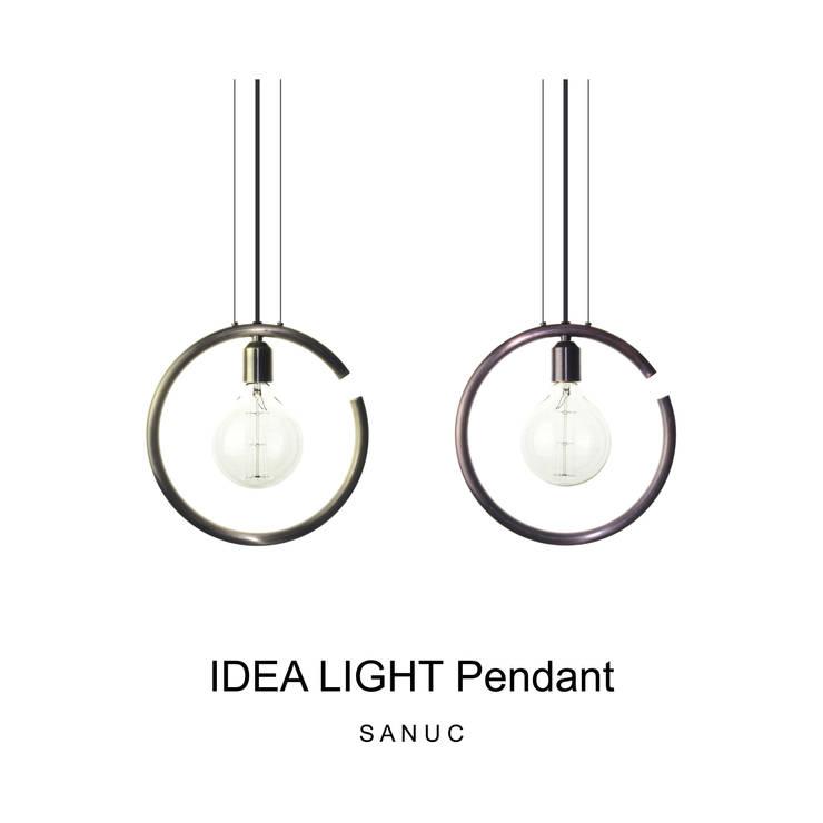 IDEA LIGHT Pendant_Bronze: SANUC의  복도, 현관 & 계단