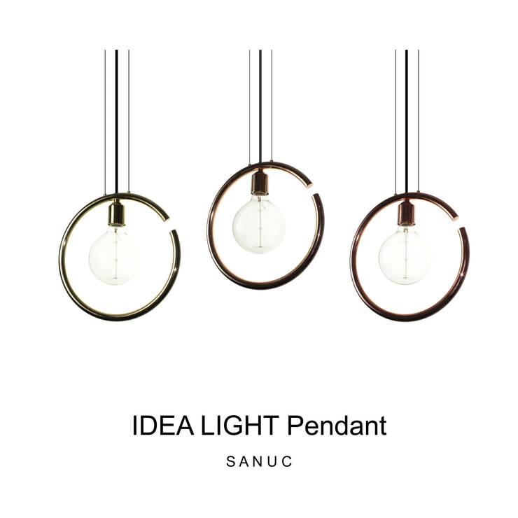 IDEA LIGHT Pendant: SANUC의  복도, 현관 & 계단