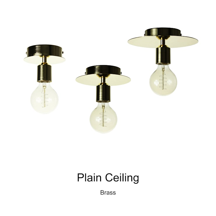 Plain Ceiling_Brass: SANUC의  복도, 현관 & 계단