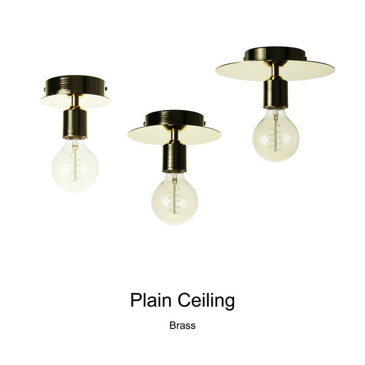 Plain Ceiling_Brass: SANUC의  복도, 현관 & 계단,